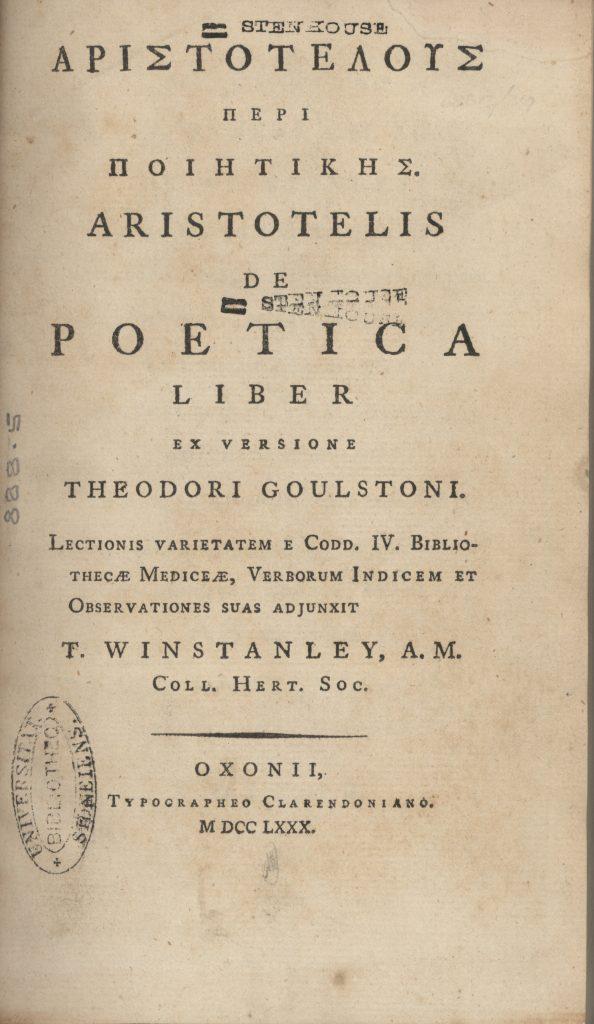 Poetica de Aristóteles - Escribir un guion- Filmadores